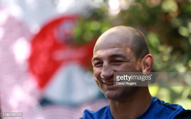 Steve Borthwick the England forwards coach faces the media during the England media session held on October 23 2019 in Tokyo Japan