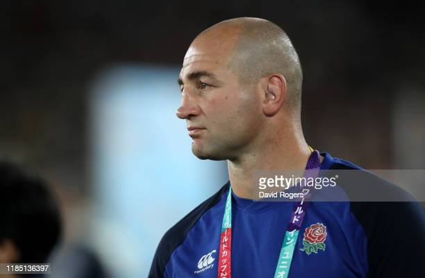 Steve Borthwick the England forwards coach looks dejected after their defeat during the Rugby World Cup 2019 Final between England and South Africa...