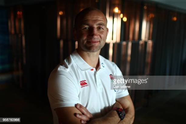 Steve Borthwick the England forwards coach poses for a photo at the Brighton Malmaison Hotel on May 15 2018 in Brighton England