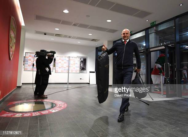 Steve Bould of Arsenal before the Premier League match between Arsenal FC and AFC Bournemouth at Emirates Stadium on February 27 2019 in London...