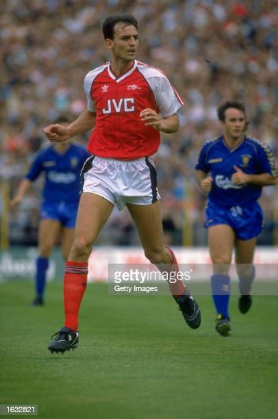 Steve Bould of Arsenal in action during a Barclays League Division One match against Wimbledon at Selhurst Park in London Arsenal won the match 51...