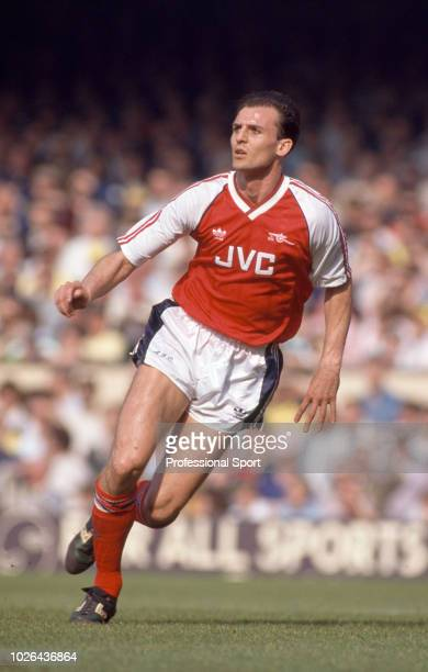 Steve Bould of Arsenal in action during the Barclays League Division One match between Arsenal and Everton at Highbury on March 31 1990 in London...