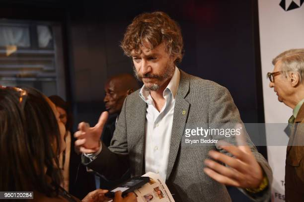 Steve Boyes is interviewed during the National Geographic premiere screening of Into the Okavango on April 22 2018 at the Tribeca Film Festival in...