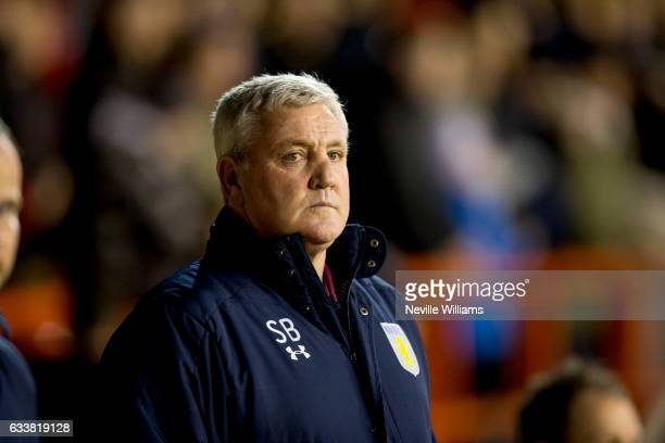 Steve Bruce manager of Aston Villa during the Sky Bet Championship match between Nottingham Forest and Aston Villa at the City Ground on February 04...