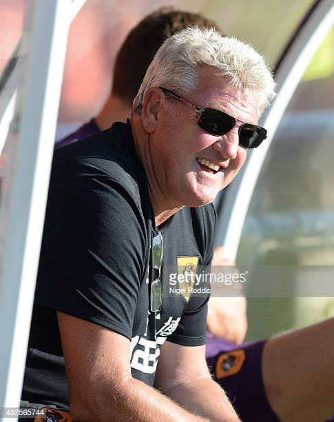 Steve Bruce manager of Hull City ahead of the preseason friendly match between York City and Hull City at Bootham Cresent on July 23 2014 in York...