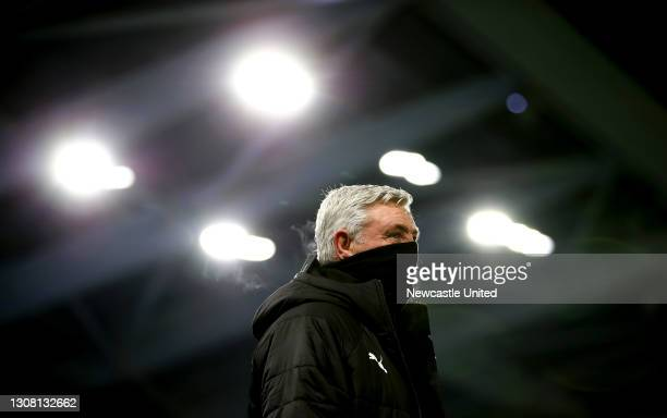 Steve Bruce, Manager of Newcastle United looks on prior to the Premier League match between Brighton & Hove Albion and Newcastle United at American...
