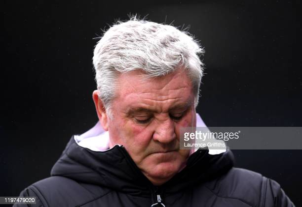 Steve Bruce, Manager of Newcastle United reacts after the FA Cup Third Round match between Rochdale AFC and Newcastle United at Spotland Stadium on...