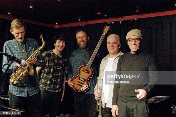 Steve Buckely, Chris Batchelor, Gene, Zone-B, Verdict Jazz Club, Brighton, East Sussex, 13 Dec 2019. Artist Brian O'Connor.