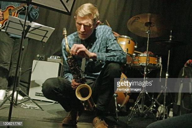 Steve Buckley, Zone-B, Verdict Jazz Club, Brighton, East Sussex, 13 Dec 2019. Artist Brian O'Connor.
