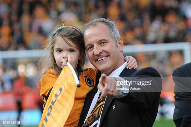 Steve Bull and his daughter join the celebrations