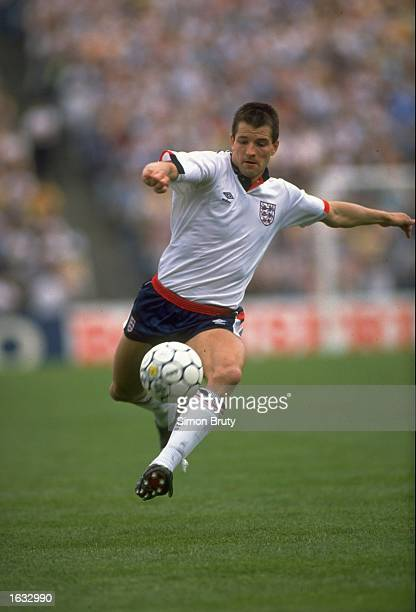 Steve Bull of England in action during a match against Scotland at Hampden Park in Glasgow Scotland England won the match 20 Mandatory Credit Simon...
