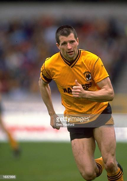 Steve Bull of Wolverhampton Wanderers in action during a match against Swansea at the Molineux Grounds in Wolverhampton England The match ended in a...
