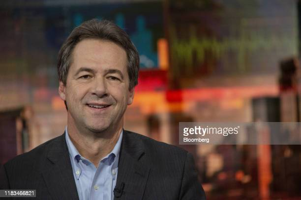 Steve Bullock, governor of Montana and 2020 presidential candidate, smiles during a Bloomberg Television interview in New York, U.S., on Tuesday,...