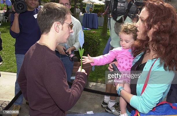 Steve Burns, Stella Ritter & Amy Yasbeck during Blue's Big Musical Movie Premiere in Hollywood, California, United States.