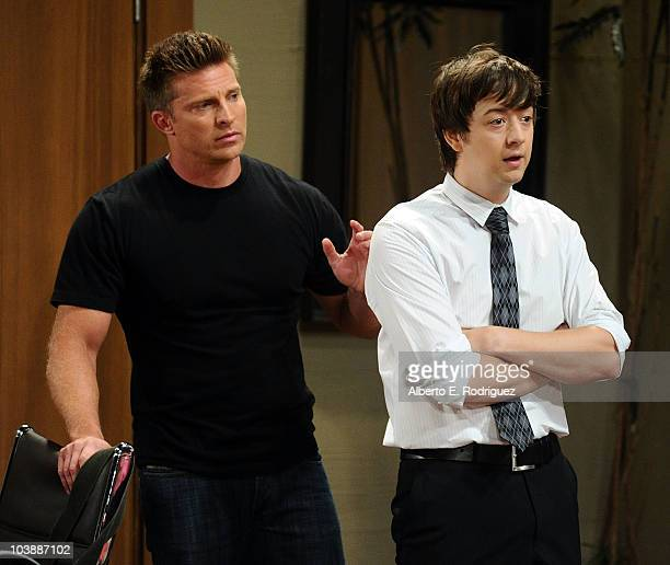 Steve Burton and Bradford Anderson in a scene that airs the week of September 27 2010 on ABC's GENERAL HOSPITAL