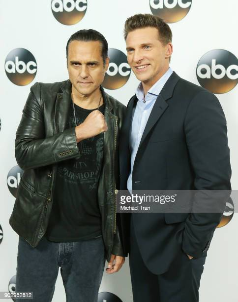 Steve Burton and Maurice Benard attend the Disney ABC Television Group hosts TCA Winter Press Tour 2018 held at The Langham Huntington on January 8...