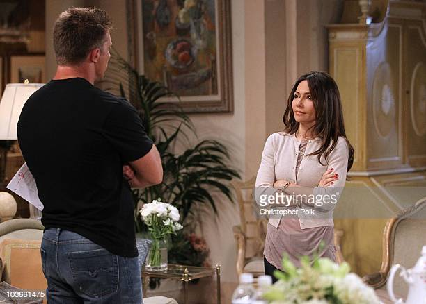 Steve Burton and Vanessa Marcil Giovinazzo in a scene that airs the week of September 13, 2010 on ABC�s GENERAL HOSPITAL .