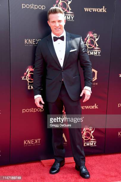 Steve Burton attends the 46th annual Daytime Emmy Awards at Pasadena Civic Center on May 05 2019 in Pasadena California