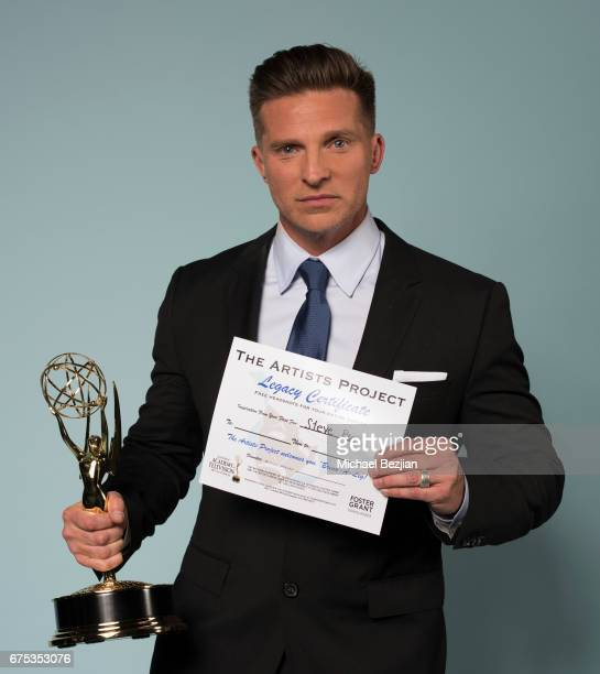 Steve Burton poses for portrait at The 44th Daytime Emmy Awards Portraits by The Artists Project Sponsored by Foster Grant on April 30 2017 in Los...