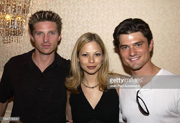 Steve Burton Tamara Braun Chad Brannon during ABC's 'General Hospital' Fan Day at Sportsman's Lodge in Studio City California United States