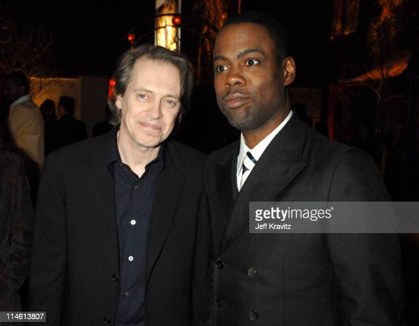 Steve Buscemi and Chris Rock during I Think I Love My Wife Los Angeles Premiere After Party in Los Angeles California United States