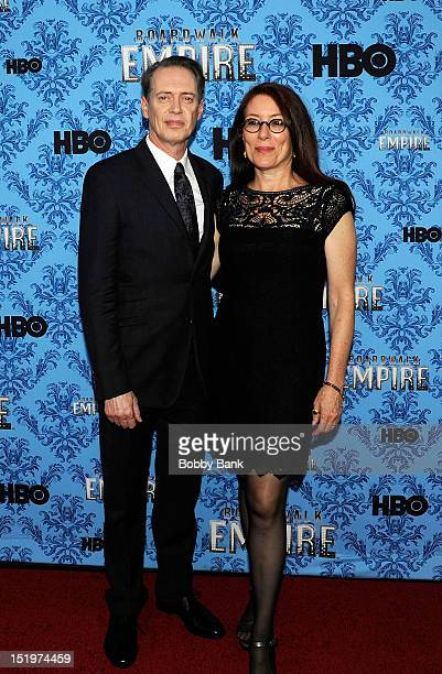 Steve Buscemi and his wife Jo Andres attends HBO's Boardwalk Empire Season 3 New York Premiere at Ziegfeld Theater on September 5 2012 in New York...