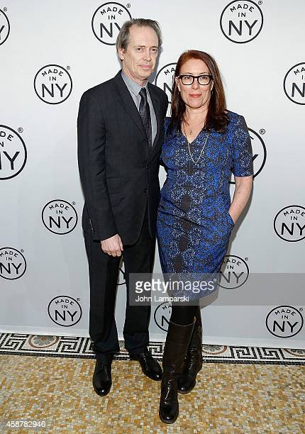 Steve Buscemi and Jo Andres attend 'Made In NY' Awards Ceremony at Weylin B Seymour's on November 10 2014 in Brooklyn New York