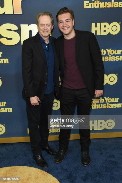 Steve Buscemi and Michael Gandolfini attend the Curb Your Enthusiasm season 9 premiere at SVA Theater on September 27 2017 in New York City