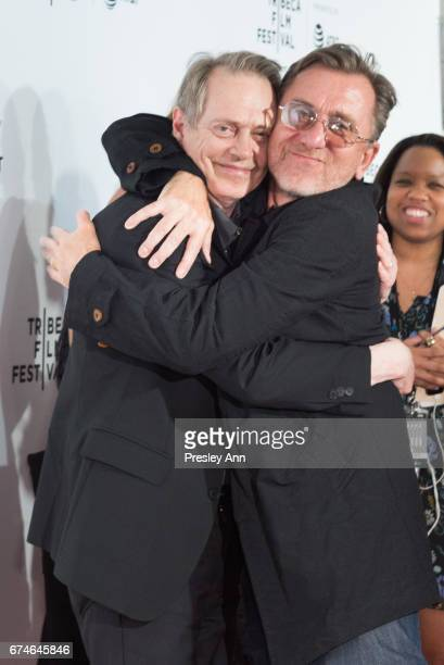 """Steve Buscemi and Tim Roth attend """"Reservoir Dogs"""" 25th Anniversary Screening during the 2017 Tribeca Film Festival at Beacon Theatre on April 28,..."""