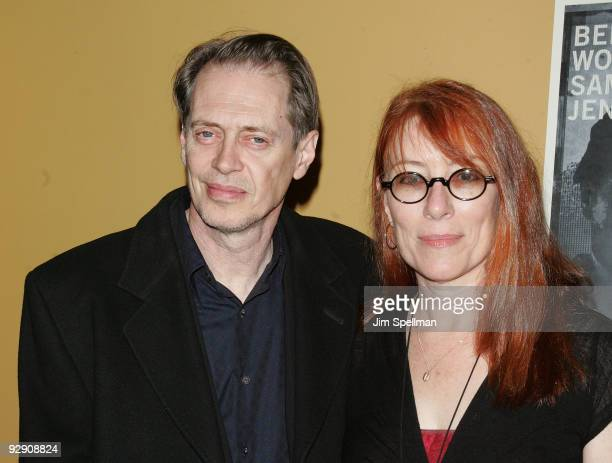 Steve Buscemi and wife attend The Messenger Premiere at Clearview Chelsea Cinemas on November 8 2009 in New York City