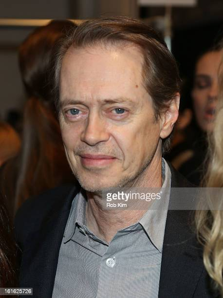 Steve Buscemi attends Nanette Lepore during Fall 2013 MercedesBenz Fashion Week at The Stage at Lincoln Center on February 13 2013 in New York City