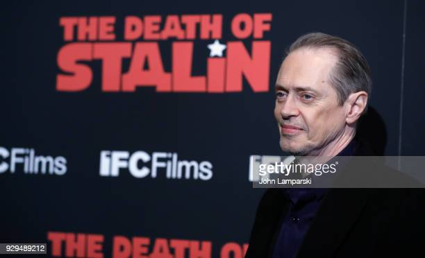 Steve Buscemi attends 'The Death Of Stalin' New York premiere at AMC Lincoln Square Theater on March 8 2018 in New York City