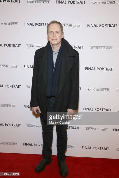"""Steve Buscemi attends the """"Final Portrait"""" New York Screening at Guggenheim Museum on March 22, 2018 in New York City."""