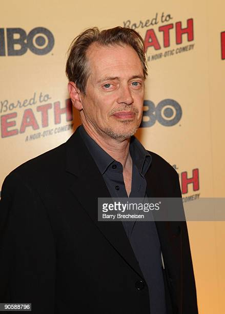 Steve Buscemi attends the premiere of HBO's Bored to Death at the Clearview Chelsea Cinemas on September 10 2009 in New York City