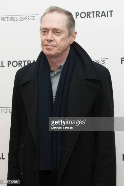 Steve Buscemi attends the screening of Final Portrait at Guggenheim Museum on March 22, 2018 in New York City.