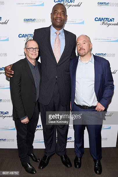 Steve Buscemi Dikembe Mutombo and Louis CK attend the Annual Charity Day hosted by Cantor Fitzgerald BGC and GFI at Cantor Fitzgerald on September 12...