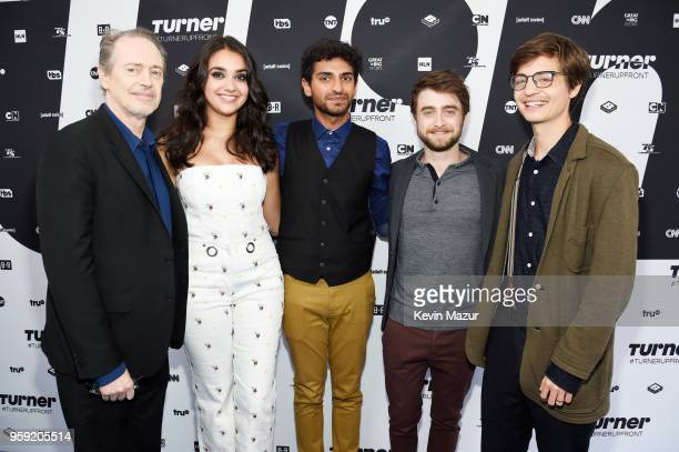Steve Buscemi Geraldine Viswanathan Karan Soni Daniel Radcliffe and Simon Rich of Miracle Workers attend the Turner Upfront 2018 arrivals on the red...