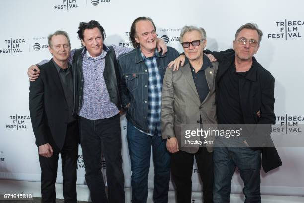 """Steve Buscemi, Michael Madsen, Quentin Tarantino, Harvey Keitel and Tim Roth attend """"Reservoir Dogs"""" 25th Anniversary Screening during the 2017..."""