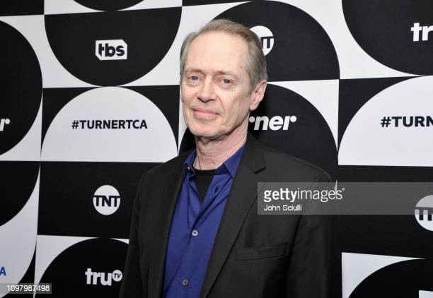 Steve Buscemi of the television show 'Miracle Workers' poses in the green room during the TCA Turner Winter Press Tour 2019 at The Langham Huntington...
