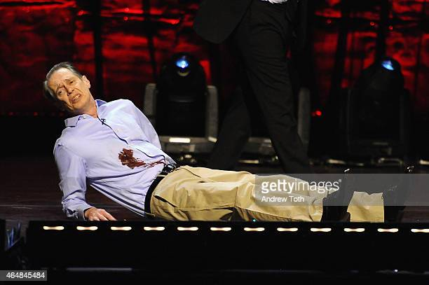 Steve Buscemi performs on stage at Comedy Central's 'Night of Too Many Stars America Comes Together For Autism Programs' on February 28 2015 in New...