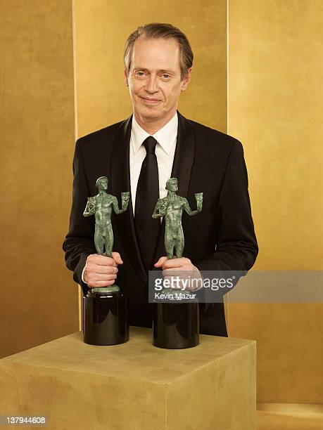 Steve Buscemi poses during The 18th Annual Screen Actors Guild Awards broadcast on TNT/TBS at The Shrine Auditorium on January 29 2012 in Los Angeles...
