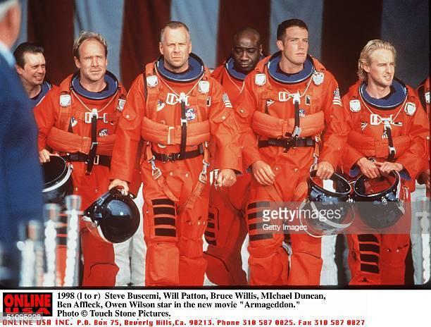 Steve Buscemi Will Patton Bruce Willis Michael Duncan Ben Affleck And Owen Wilson Star In Armageddon
