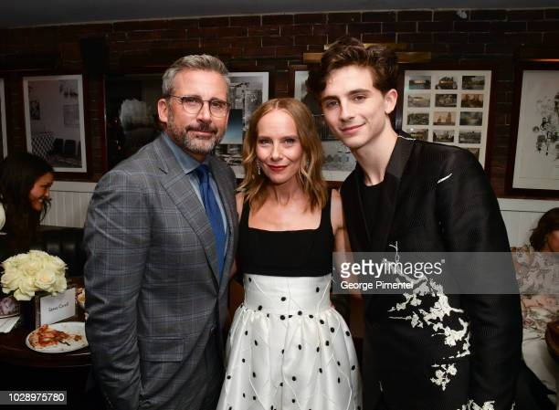 Steve Carell Amy RyanÊand Timothee Chalamet attend the 'Beautiful Boy' Afterparty Hosted by Amazon Studios and Hugo Boss during 2018 Toronto...
