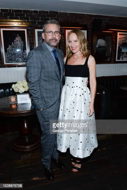Steve Carell and Amy Ryan attend the 'Beautiful Boy' Afterparty Hosted by Amazon Studios and Hugo Boss during 2018 Toronto International Film...