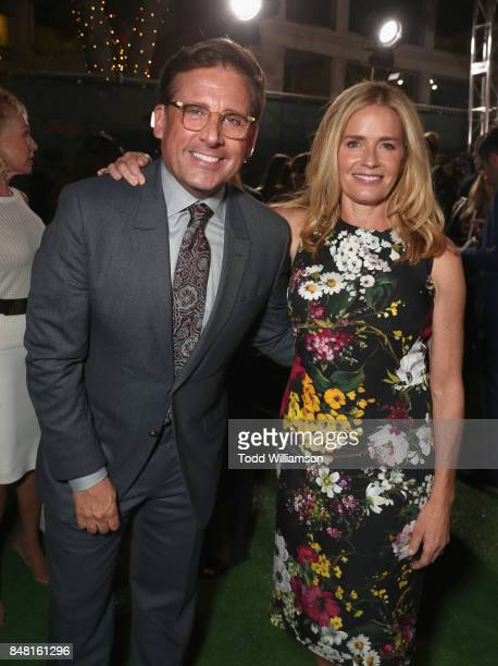 Steve Carell and Elisabeth Shue at Fox Searchlight's 'Battle of the Sexes' Los Angeles Premiere on September 16 2017 in Westwood California