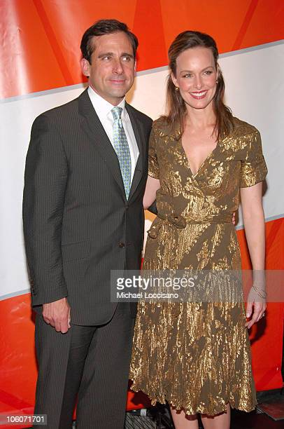 Steve Carell and Melora Hardin during NBC 20062007 Primetime Upfront at Radio City Music Hall in New York City New York United States