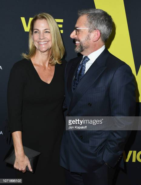 """Steve Carell and Nancy Carell attend Annapurna Pictures, Gary Sanchez Productions And Plan B Entertainment's World Premiere Of """"Vice"""" at AMPAS Samuel..."""