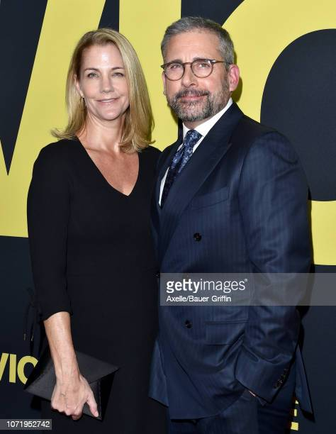Steve Carell and Nancy Carell attend Annapurna Pictures, Gary Sanchez Productions and Plan B Entertainment's World Premiere of 'Vice' at AMPAS Samuel...