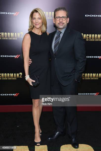 Steve Carell and Nancy Carell attend the Anchorman 2 The Legend Continues US premiere at Beacon Theatre on December 15 2013 in New York City