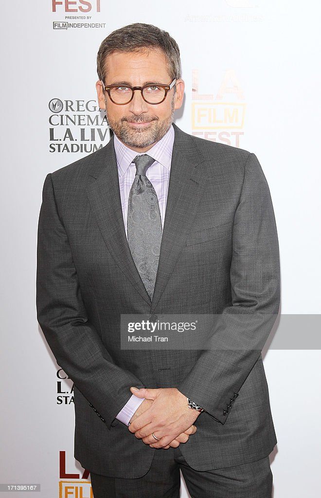 Steve Carell arrives at the 2013 Los Angeles Film Festival 'The Way, Way Back' closing night gala held at Regal Cinemas L.A. LIVE Stadium 14 on June 23, 2013 in Los Angeles, California.